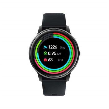 "Смарт часовник Xiaomi Imilab KW66, 44mm, 1.28"" (3.25 cm) IPS дисплей, IP68 водоустойчив, до 15 дни издръжливост на батерията, черен image"