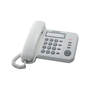 Стационарен телефон Panasonic KX-TS520, 1 линия, бял image