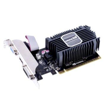 Видео карта Nvidia GF GT 730 LP, 1GB, Inno3D N730-1SDV-D3BX, PCI-E 3.0, SDDR3, 64bit, HDMI, DVI, VGA image
