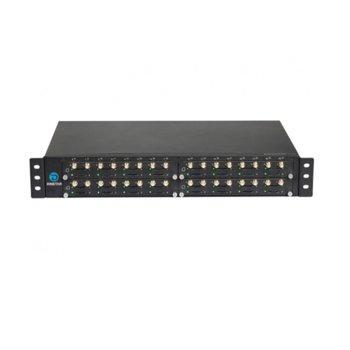 VoIP GSM шлюз Dinstar DWG2000G-32G, 2x Lan 10/100Mbps, 32x слота за SIM карти, SMA антена конектор, rackmount image