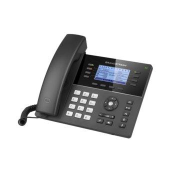 "VoIP телефон Grandstream GXP1782, 3.3"" (8.38 cm) LCD дисплей, 8 линии, 2x LAN10/100, PoE, USB, черен image"