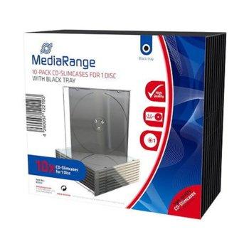 Кутия за CD/DVD MediaRange MRBOX32, 10бр image