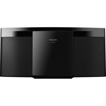 Аудио система Panasonic SC-HC2020EGK-W, 2.0, 20W RMS, Микро Hi-Fi система, с възможност за монтиране на стена, Bluetooth, USB, черна image