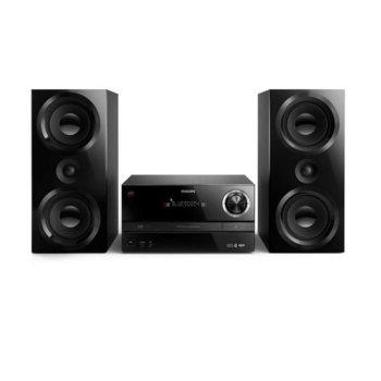 Аудио система Philips BTM3360/12, 150W, 2x високоговорителя, безжична, Bluetooth, CD, USB, радио, черно image