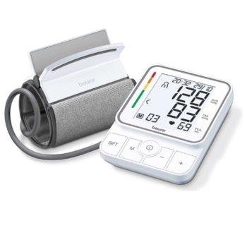 Апарат за кръвно налягане Beurer BM 51, XL дисплей, индикация за рискови стойности, индикатор при аритмия, бял image