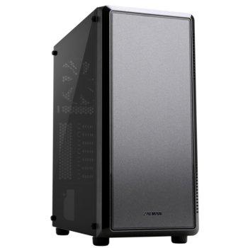 Кутия Zalman S4, ATX/Micro ATX/Mini-ITX, 1x USB 3.0, 2 вентилатора, черна, без захранване image