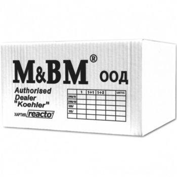 Безконечна принтерна хартия M & BM, 190/279.4mm, двупластова, 2000л., бяла image