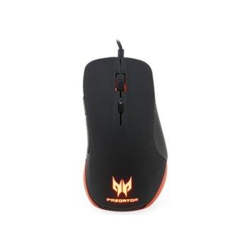 Mишка Acer Predator Gaming Mouse, гейминг, оптична (6500 dpi), USB, черна image