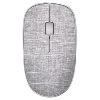 Мишка Rapoo 200 Plus multi-mode, оптична (1300 dpi), безжична, USB, Bluetooth, сива, с покритие от плат image