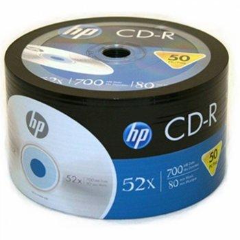 Оптичен носител CD-R media 700MB, HP, 52x, 50бр. image