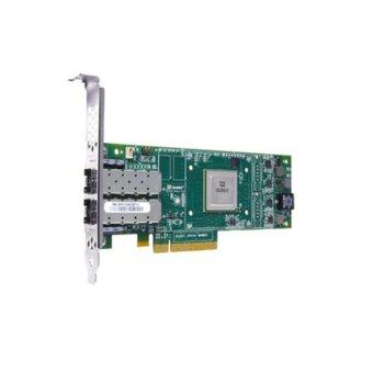Мрежови адаптер HPE StoreFabric SN1000Q QW972A, от PCIe 3.0 x8(м) към 2x LC Multi-mode SFP+(ж), 16 Gbps image