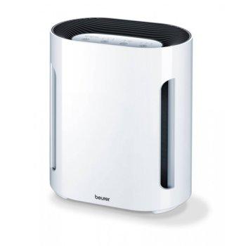 Пречиствател на въздух Beurer LR 210 в комплект с предпазна маска Beurer MM 10 (20 броя), 60W, филтър, подходящ за помещения с площ до 28 m2, 3 режима, автоматично изключване, нощен режим, бял image