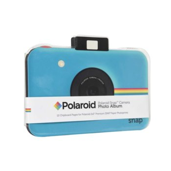 Фотоалбум Polaroid Snap Themed Scrapbook, 12 страници, син image