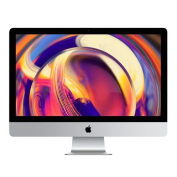 "All in One компютър Apple iMac (MRR12ZE/A_Z0VT00065/BG), 27"" (68.58 cm) 5K Retina дисплей, шестядрен Coffee Lake Intel Core i5-9600KF, AMD Radeon Pro 580X 8GB, 8GB DDR4, 2TB SSHD, 2x Thunderbolt 3, клавиатура и мишка, macOS Mojave image"