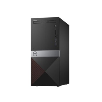 Настолен компютър Dell Vostro 3670 (N204VD3670BTPEDB03_1905-14), четириядрен Coffee Lake Intel Core i3-8100 3.6 GHz, 4GB DDR4, 1TB HDD, 2x USB 3.1, клавиатура и мишка, Linux image
