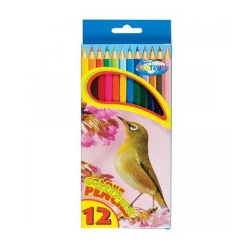 Цветни моливи Centrum Zoo, 12 броя, дълги image