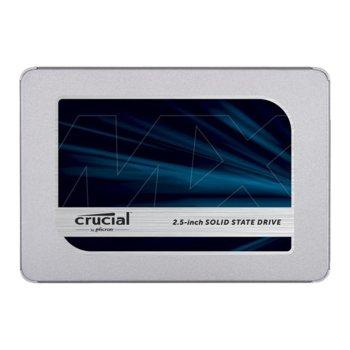 """Памет SSD 1TB Crucial MX500, SATA 6Gb/s, 2.5"""" (6.35 cm), скорост на четене 560 MB/s, скорост на запис 510MB/s image"""