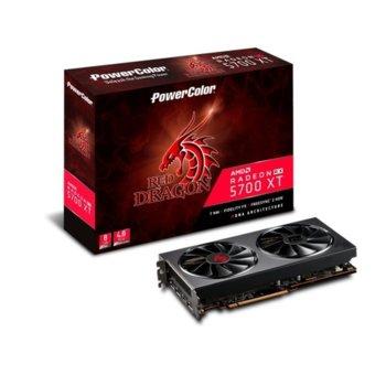 Видео карта AMD Radeon RX 5700 XT, 8GB, PowerColor Red Dragon, PCI-E 4.0, GDDR6, 256bit, DisplayPort, HDMI image