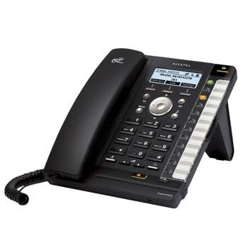 VoIP телефон Alcatel Temporis IP301G, монохромен дисплей, 4 SIP accounts, PoE, черен image