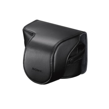 Чанта за фотоапарат Sony Soft Carrying Case LCSEJAB.SYH, за компактни фотоапарати, полиуретан, прахо/водо/удароустойчива, черна image