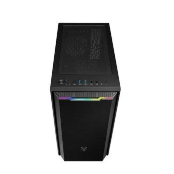 Кутия Fortron CST310, micro ATX/Mini ITX, 2x USB 3.0, прозорец, RGB, черна, без захранване image