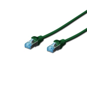 Пач кабел Digitus, SFTP, Cat 5e, 0.5м, зелен image