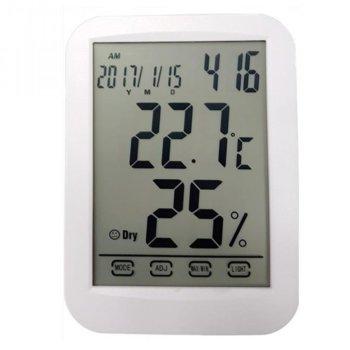Електронна метеостанция Royal TH-029, термометър, часовник, дата, измерване на влага/влажност, бяла image