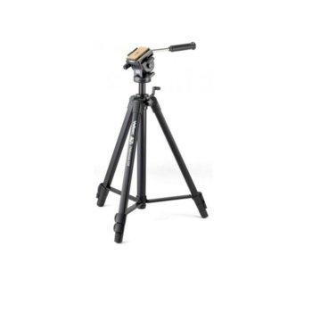 Трипод Velbon Videomate 638, мин/макс. височина 67-138.5 см, 6кг товароносимост, алуминиев, черен image