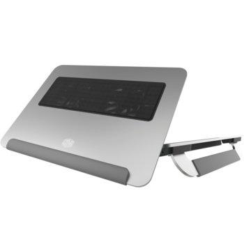 "Охлаждаща поставка за лаптоп CoolerMaster NotePal U150R, за лаптопи до 15"" (38.10 cm), 1x Micro USB, сребриста image"