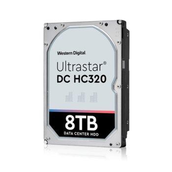 """Твърд диск 8TB HGST Ultrastar DC HC320 HUS728T8TAL5204(0B36400), SAS 12Gb/s, 7 200 rpm, 256MB кеш, 512e sector size(Secure Erase), 3.5"""" (8.89 cm) image"""