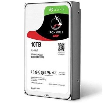 """Твърд диск 10TB Seagate IronWolf Pro, SATA 6Gb/s, 7200 rpm, 256MB кеш, 3.5""""(8.89 cm) image"""