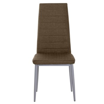 Трапезен стол Carmen 515, дамаска, кафяв image