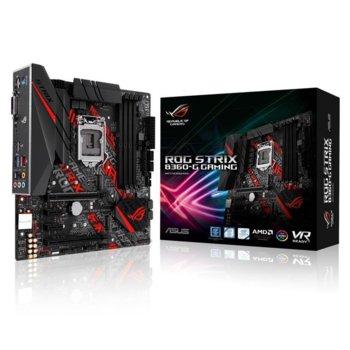 Дънна платка ASUS ROG STRIX B360-G GAMING, B360, LGA1151, DDR4, PCI-E (HDMI&DVI-D)(CFX), 6x SATA 6Gb/s, 2 x M.2 Socket, 2 x USB 3.1 Gen 2 Type-A, mATX image