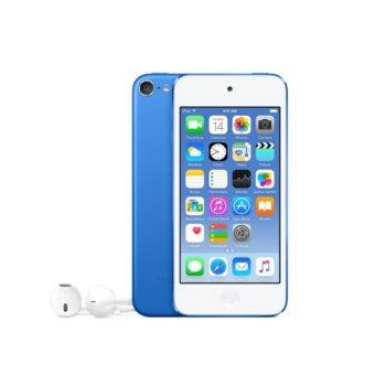 "Apple iPod Touch 6th Gen(син), 4.0""(10.16 cm) сензорен IPS Retina дисплей, двуядрен A8 64bit 1.1GHz, 1GB RAM, 32GB Flash памет, iSight 8Mpix & Facetime HD 1.2Mpix camera, Wi-Fi, Bluetooth 4.1, iOS 10 image"