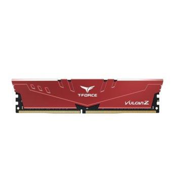 Памет 8GB DDR4, 3200MHz, Team Group T-Force Vulcan Z TLZRD48G3200HC16C01, 1.35V, червена image
