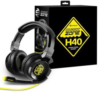 Слушалки Sharkoon Zone H40, микрофон, USB, 3.5mm Jack, 20 Hz - 20 kHz, черни image