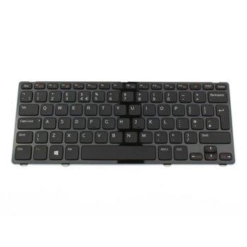 Клавиатура за лаптоп Dell, съвместима със серия Inspiron 13z-5323 14Z-3360 14Z-5423, черна, с лъскава рамка image