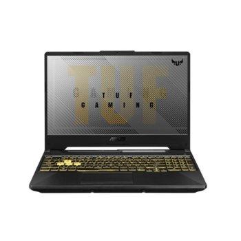 """Лаптоп Asus TUF Gaming A15 FA506II-AL016 (90NR03M1-M06660)(сив), осемядрен AMD Ryzen 7 4800H 2.9/4.2 GHz, 15.6"""" (39.62 cm) Ful HD IPS 144Hz Anti-Glare Display & GF GTX 1650 Tu 4GB, (HDMI), 8GB DDR4, 512GB SSD, No OS  image"""