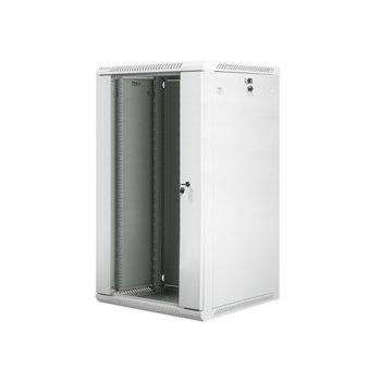 "Комуникационен шкаф Lanberg WF01-6622-10S, 19"", 22U, 600 x 600 x 1085 mm, сив image"