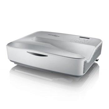 Проектор Optoma HZ45UST, DLP, 3D, Full HD (1920x1080), 3,000,000:1, 4200 lm, HDMI, VGA, USB, RJ-45, бял image