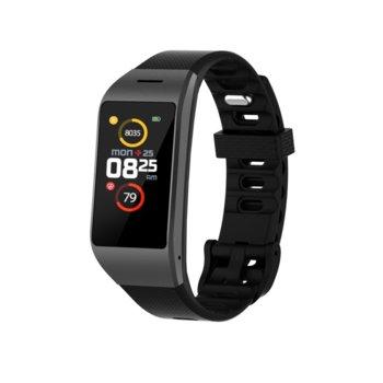 "Смарт часовник MyKronoz ZeNeo, 1.14"" (2.89 cm) IPS дисплей, до 4 дни време за работа, Bluetooth, водоустойчив IP56, черен image"