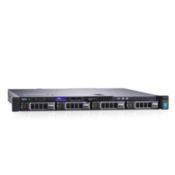 Сървър Dell PowerEdge R230 (#DELL02395), четириядрен Kaby Lake Intel Xeon E3-1230 v6 3.5/3.9 GHz, 8GB DDR4 UDIMM, 1TB HDD, 1x GBE LOM, 3x USB 3.0, без ОС, 250W image