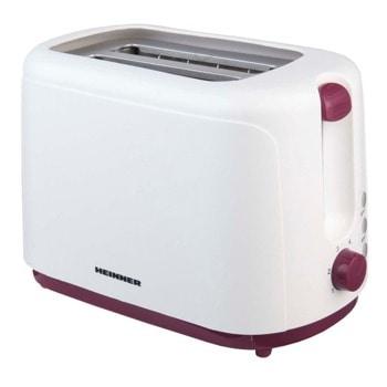 Тостер Heinner TP-750BG, 6 степени, функция претопляне, функция размразяване, система против хлъзгане, 750W, бял image