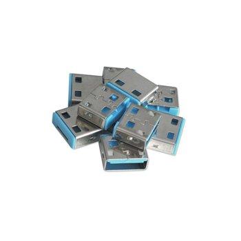Блокери LINDY 40462, за системата за заключване Lindy, за USB Type A портове, 10x блокера, сини image