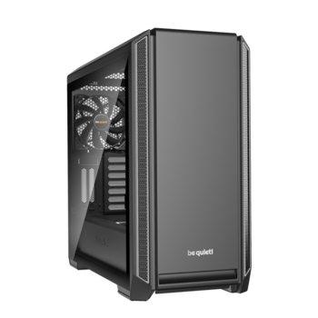 Кутия Be Quiet Silent Base 601, E-ATX, ATX, M-ATX, Mini-ITX, USB 3.0, прозорец от закалено стъкло, сребриста, без захранване image