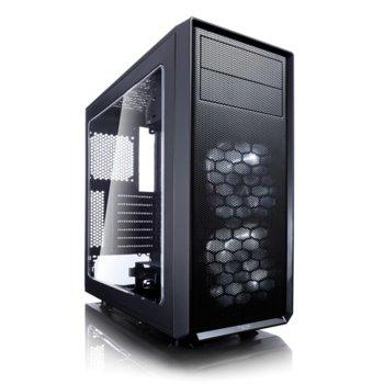 Кутия Fractal Design Focus G, ATX/mATX/ITX, USB 3.0, прозорец, черна, без захранване image