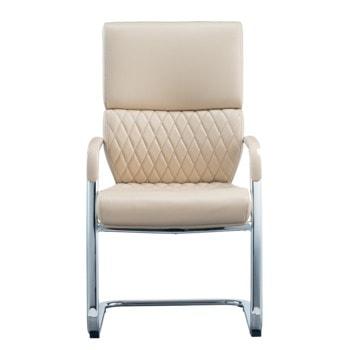 Посетителски стол RFG Grande M, до 120кг. макс тегло, еко кожа, бежов image