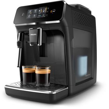 Кафемашина Philips EP2221/40, 230W, 15 bar, дисплей със сензорен екран, приставка Classic за разпенване, черна image
