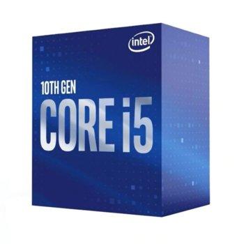 Процесор Intel Core i5-10400, шестядрен (2.9/4.3GHz, 12MB Cache, LGA1200) Box, без охлаждане image