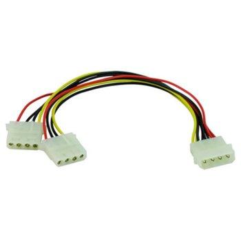 Захранващ кабел VCom, 4pin Molex(м) към 2x 4pin Molex(ж), 0.15m image